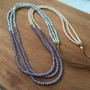 Stunning Never Worn 3 Strand Beaded Necklace